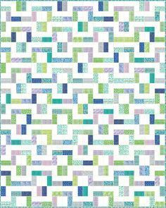 Lets Quilt Something: Pipeline - Free Quilt Pattern - Jelly Roll