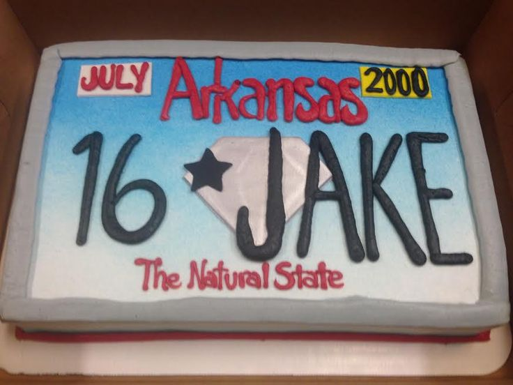 License Plate Cake 16th Birthday
