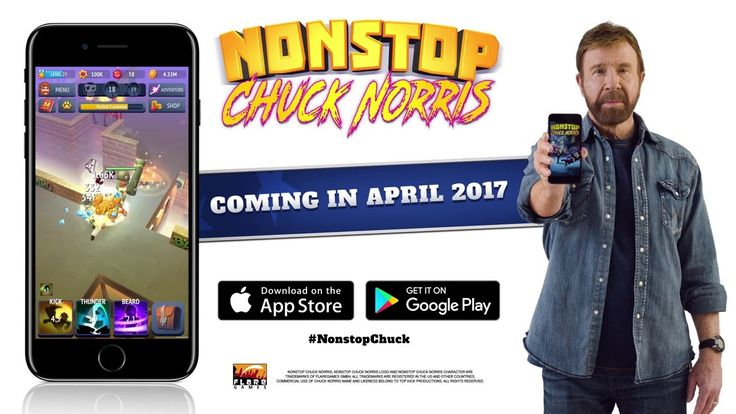 Official Nonstop Chuck Norris  (by flare games) Announcement Trailer (iO...