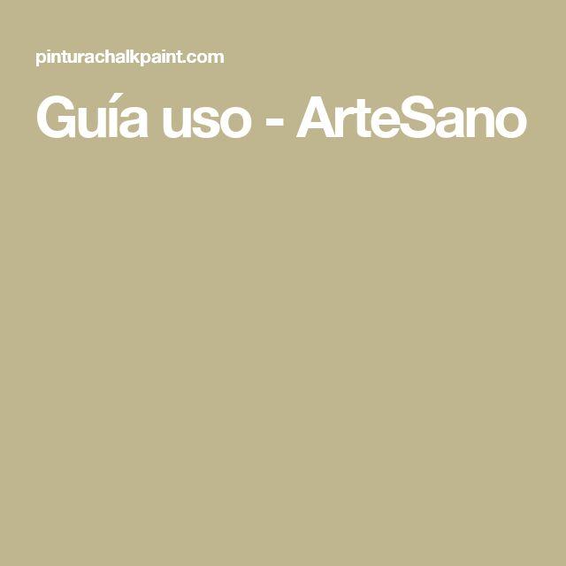 Guía uso - ArteSano