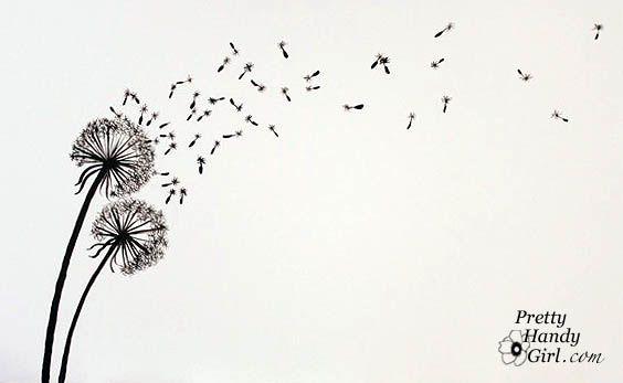 Free Printable Dandelion Stencils | Topsy Turvy Tuesdays - Im Topsy Turvy