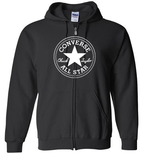 awesome Converse Logo Unisex zip hoodie