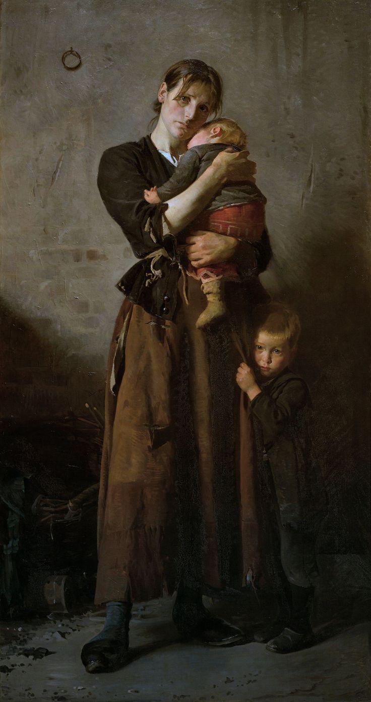 Abandoned, 1888 by Frants Henningsen (1850 – 1908, Danish)