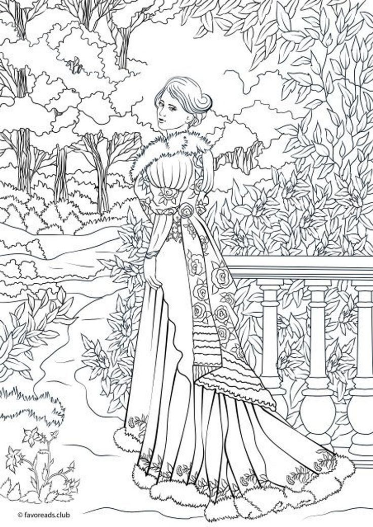 Fashionista Printable Adult Coloring Page From Favoreads