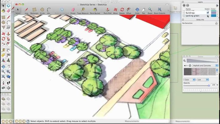 Just the Basics 3. Offset, Copy, and Array Tools - SketchUp for Landscape Architects