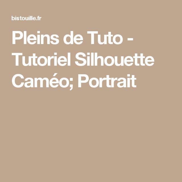 Pleins de Tuto - Tutoriel Silhouette Caméo; Portrait