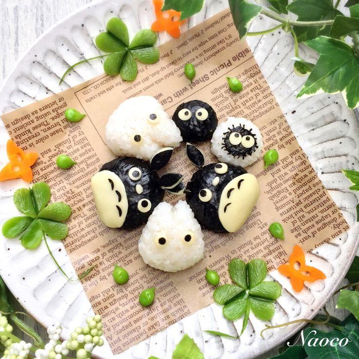 naocoisa's dish photo トトロのキャラちぎりむすび http://snapdish.co #SnapDish #キャラクター #簡単料理 #キャラ弁 #お弁当 #離乳食/幼児食