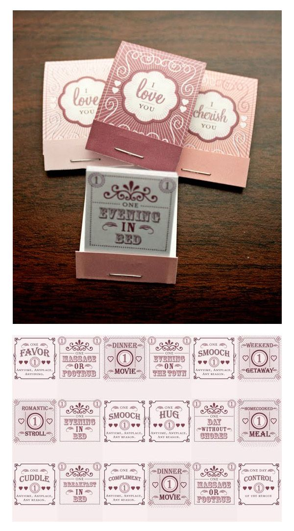 Love Coupon Matchbooks by Rachel Wiles