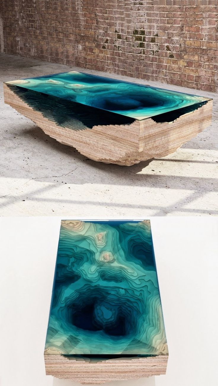 Unique and interesting topographical coffee table