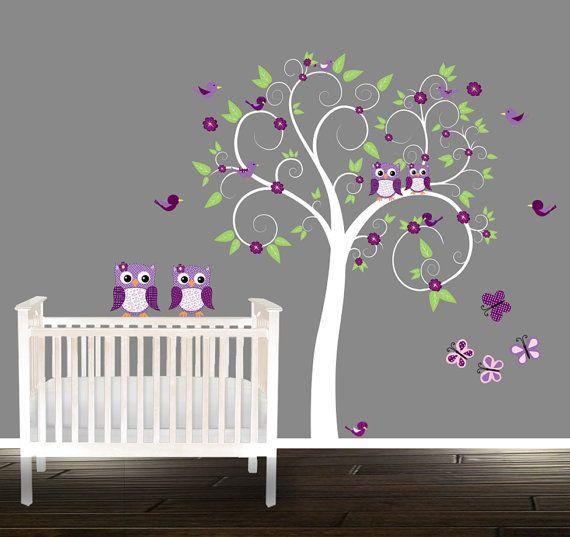 Wall Tree Decal nursery tree Owl Tree Decals owl by BeautifulWalls
