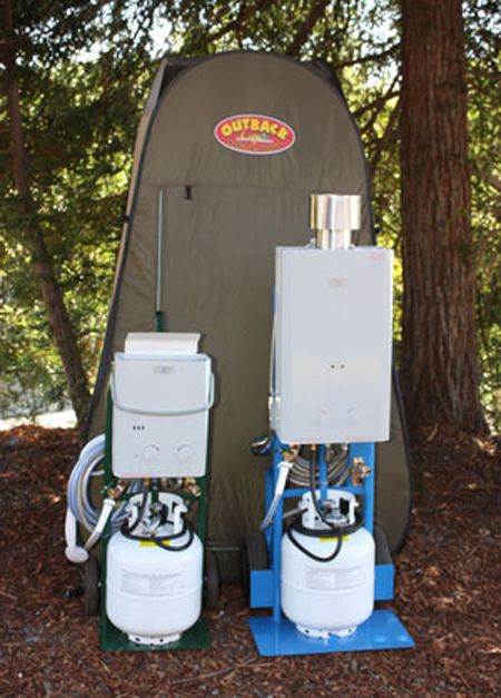 Outdoor Camping Shower Ideas - Propane camping shower