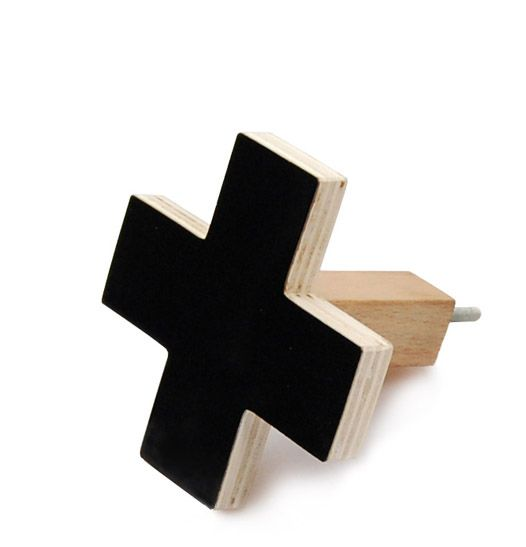 Cross Wall Hooks Small Black