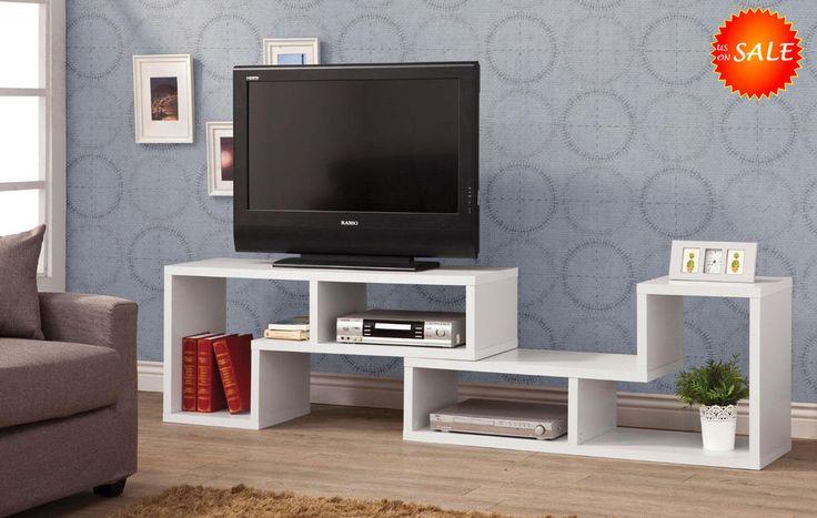 Modern TV Stand Console Media Storage Cabinet Shelf Home Entertainment Furniture #CoasterHomeFurnishings #Contemporary