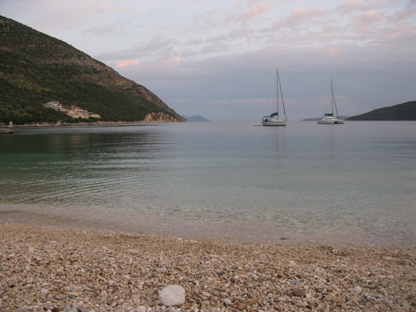 Lefkada - Sunset at Poros beach.