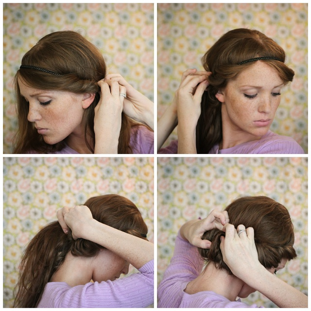 The Freckled Fox : Hair Tutorial: the Easy Headband Tuck
