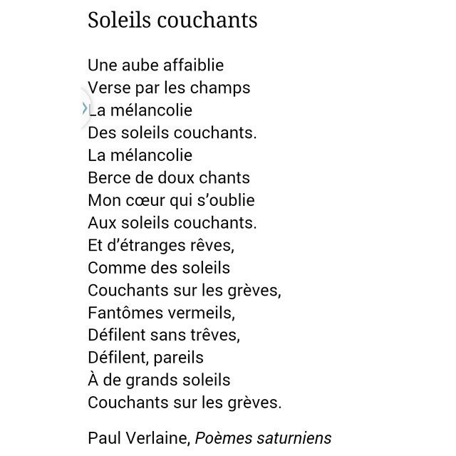 Paul verlaine soleils couchants 1866 po mes saturniens paulverlaine p is for - Soleil couchant victor hugo ...