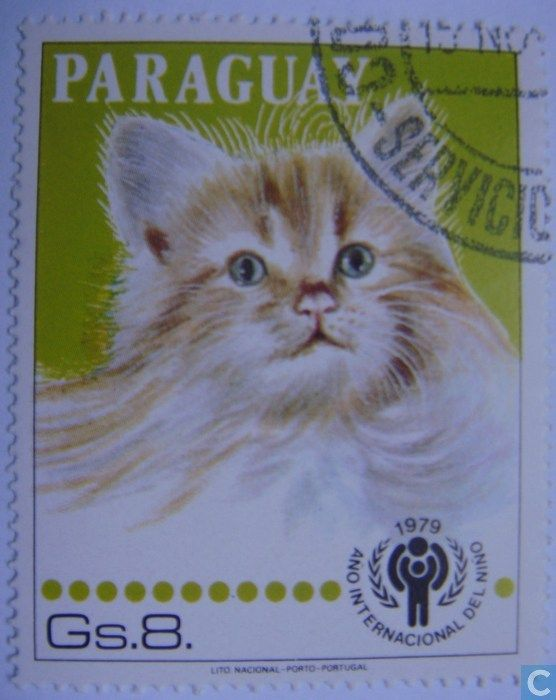 Postage Stamps - Paraguay - Cats