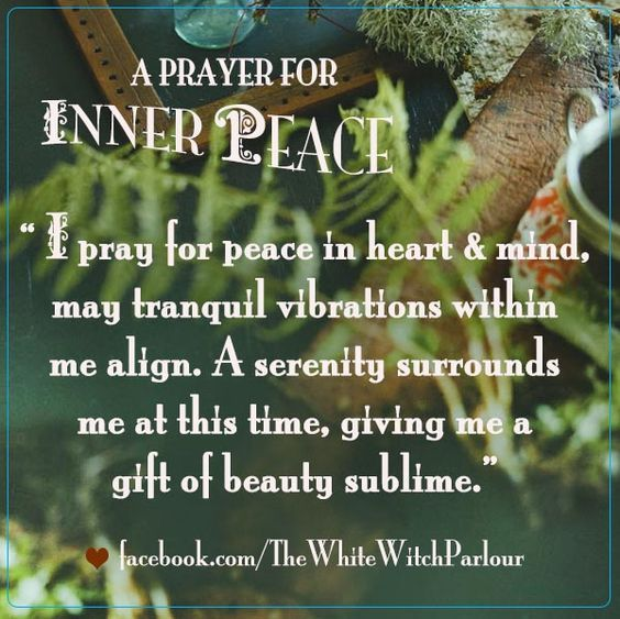A Prayer For Inner Peace Witches Of The Craft® Witchy