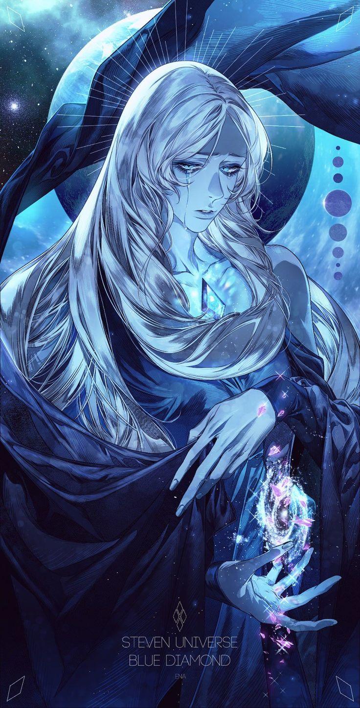 1girl blue_diamond_(steven_universe) blue_dress blue_eyes