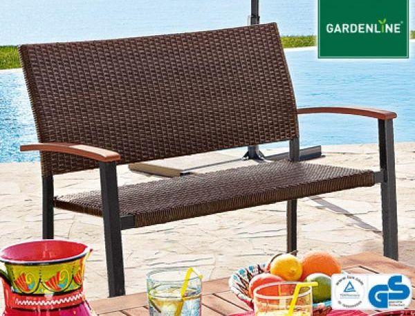 Gartenbank Geflecht Gardenline Schone Braune Farbe Und Interessante Gartenbank Gardenline Farbe Braun