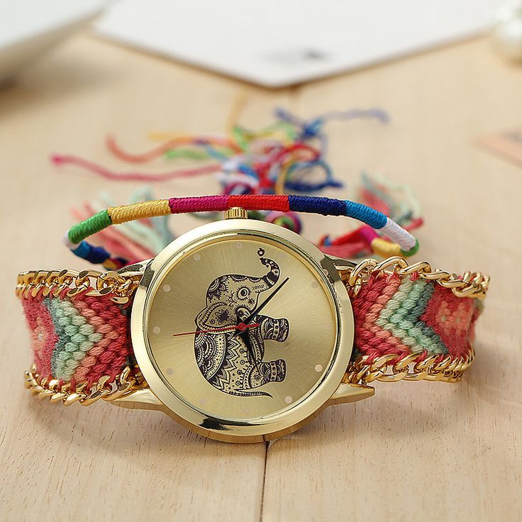 Friendship bracelet elephant party teen watch