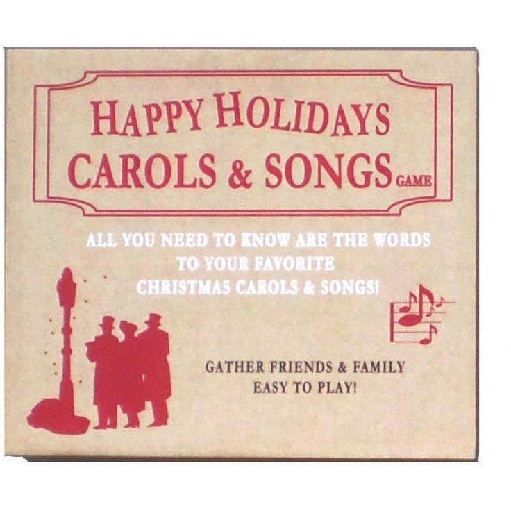 Happy Holidays Christmas Carols and Songs Game