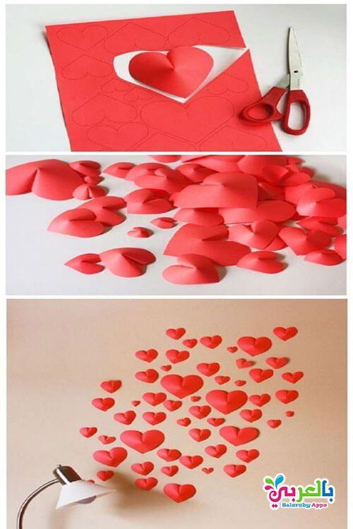 ديكور قلوب صنع قلوب من الورق للزينة والديكور شكل قلب V 2020 G