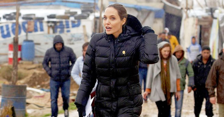 Angelina Jolie visited a rainy camp for Syrian refugees in Lebanon on Tuesday, March 15, and called on world leaders to help solve the crisis that has seen millions of people displaced — get the details