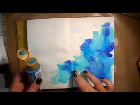 Mixed Media Art Journal Page #16 – YouTube