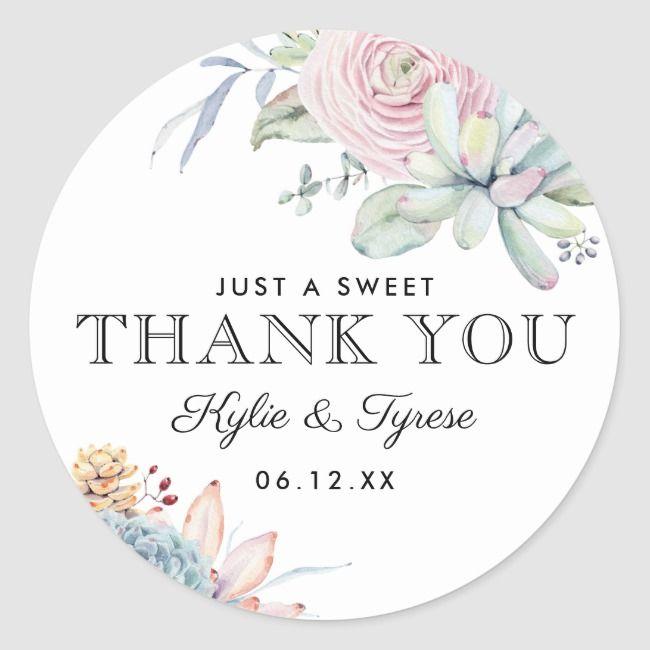 Watercolor Succulent Floral Vintage Wedding Favor Classic Round Sticker Zazzle Com Vintage Wedding Favors Wedding Favors Vintage Wedding