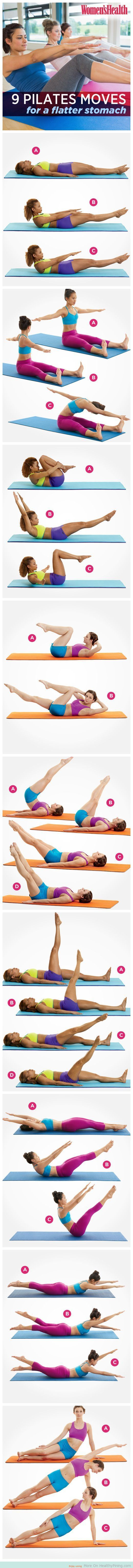 9 Pilates Moves For A Flatter Stomach - Healthy Pining
