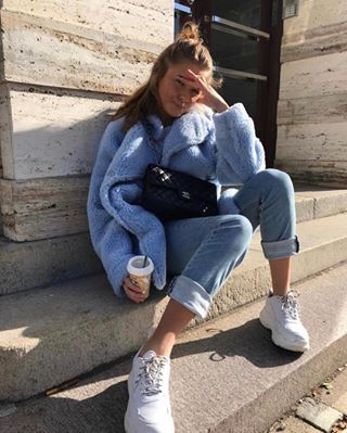 "967e72f840f Baby @annaastrup in our ""Perfect Chunky Sneaker"" 🌟 Click on the image or  link in bio to"