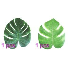 24 stks 35x29 cm & 20x18 cm Kunstmatige Tropische Palm Bladeren Simulatie Leaf Voor Hawaiian Party Jungle Strand Thema Party Decoraties(China (Mainland))