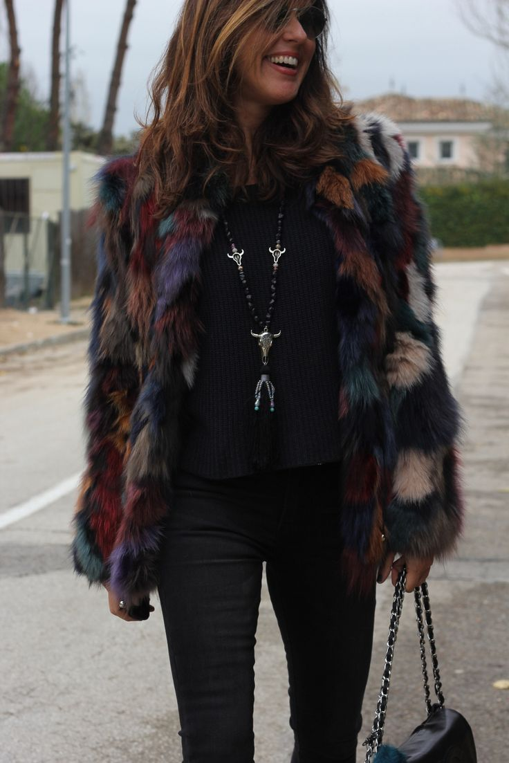 black with pops of jewel tones Love this look