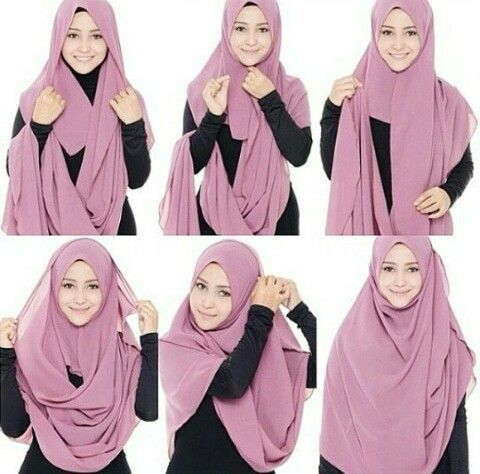 This is a simple, easy and a soft looking hijab style, it looks so beautiful and feminine, besides the coverage and modest look it adds to your look. 1. Place the hijab on your head with short & long sides…