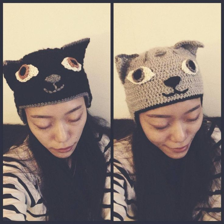 cat crochet hats