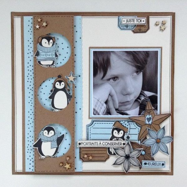 Les 25 meilleures id es concernant pages d 39 album de no l - Idee scrapbooking album photo ...