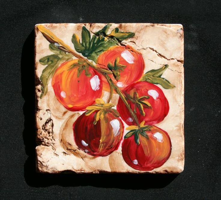Kitchen Tiles Fruits Vegetables 52 best hand painted tiles images on pinterest | painted tiles