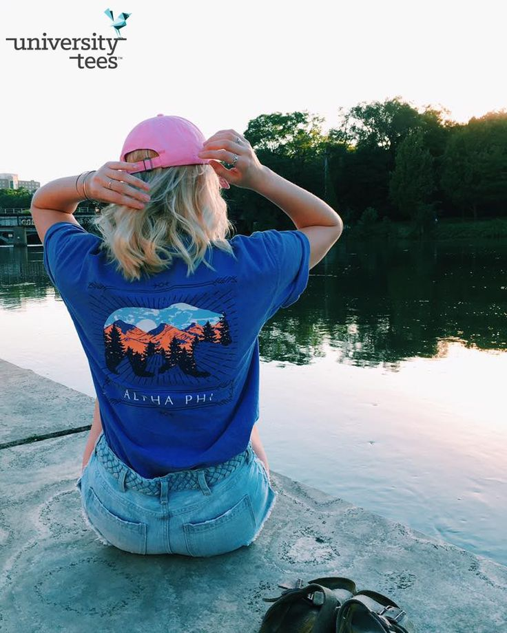 explore the great outdoors | Alpha Phi | Made by University Tees | universitytees.com