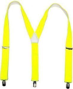 günstig kaufen | LEIF NELSON Herren und Damen HosentrŠger in vielen Farben 3 Clips ; Einheitsgršsse, Neon Gelb | 4250863648260