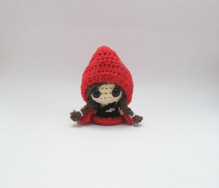 Crochet Amigurumi Red Riding Hood Doll by designer LilBittyKnitter.