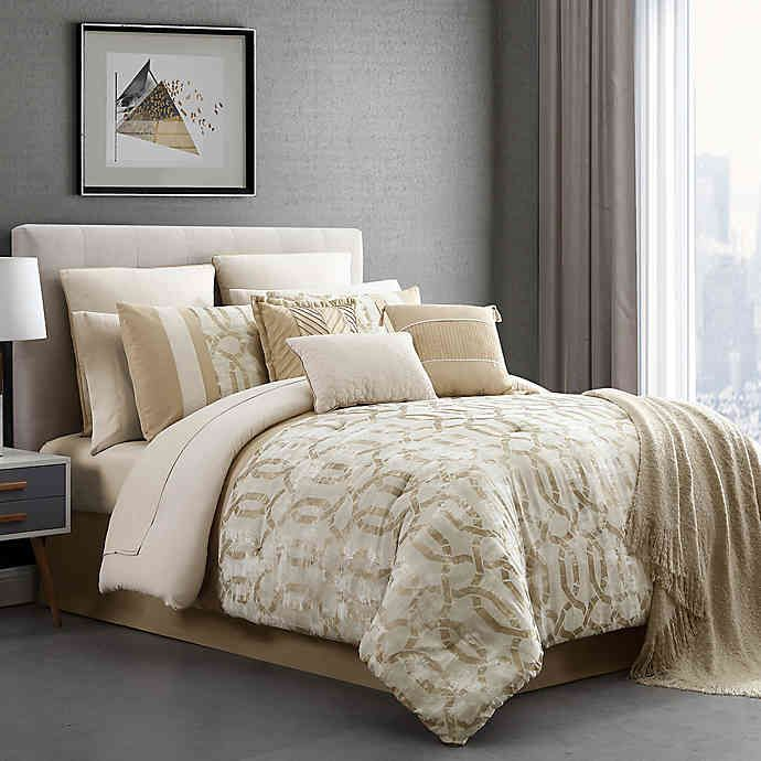 Belmont Jacquard 14 Piece Bedding Collection In 2020 Comforter
