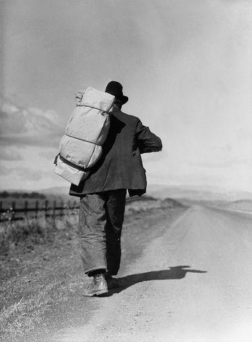 Dorothea Lange's Migrant Worker on California Highway - 20x200