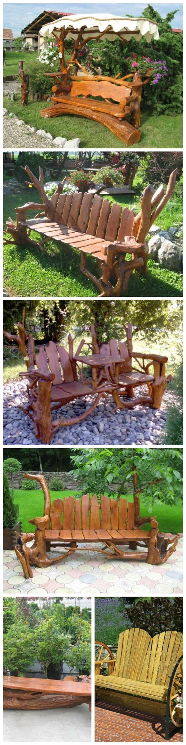 Amazing Rustic Benches