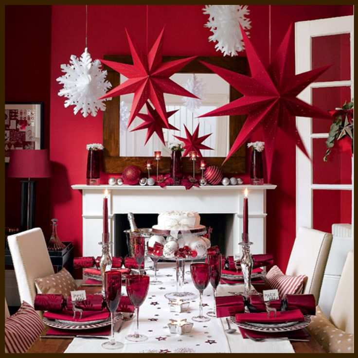 Decoration Country Christmas Decor Red Scheme Table Ideas Easy Counter Height Dining Room