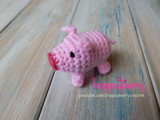Happy Berry Crochet: How to Crochet a Pig - Farmyard Specials༺✿ƬⱤღ https://www.pinterest.com/teretegui/✿༻
