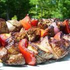 Foto de la receta: Brochetas de cerdo estilo griego (suvloaki)
