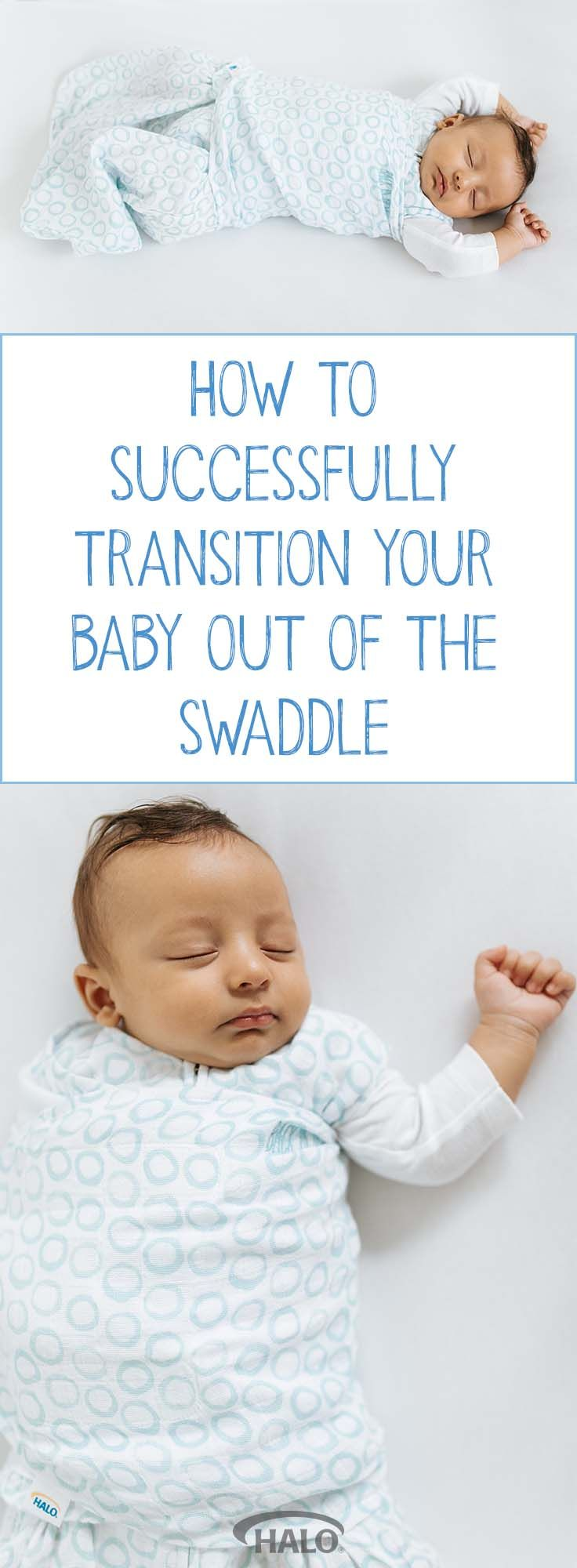 How to transition your baby out of the swaddle using the HALO SleepSack swaddle wearable blanket.