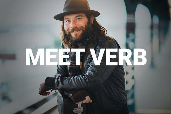 Verb - Minimal Online Presence by Currl on @creativemarket