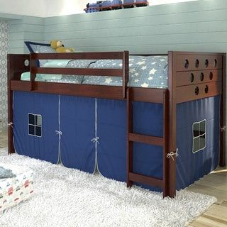 Shop for Donco Kids Twin Circles Low Tent Dark Cappuccino Loft. Get free delivery at Overstock.com - Your Online Furniture Outlet Store! Get 5% in rewards with Club O! - 17977669
